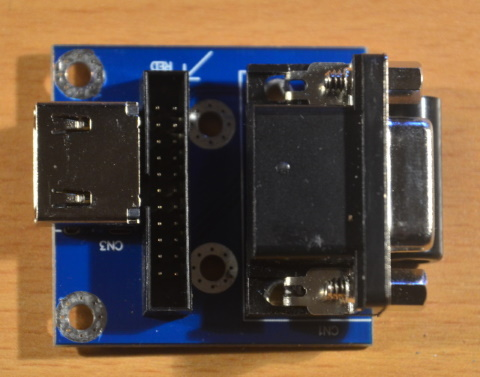 The little video board of the Indivision AGA Mk3
